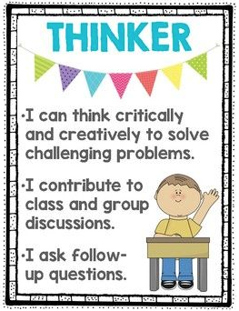 September IB Learner Profile:  Thinker