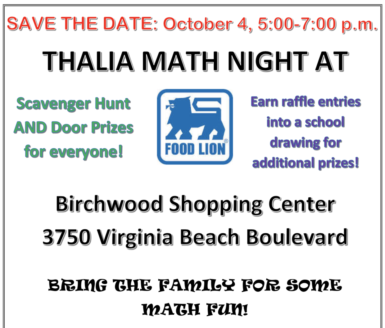 Thalia Parent Newsletter | Smore Newsletters for Education