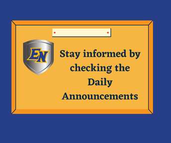 Daily Announcements for ENMS and ENHS