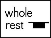 whole rest = silencio de redonda