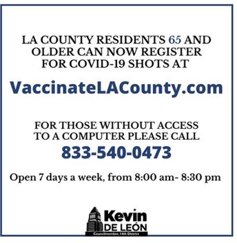 COVID Vaccinations for Seniors/ Vacunas de COVID para Personas Mayores
