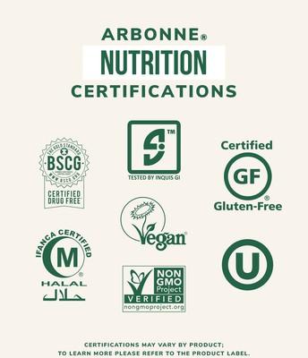 ARBONNE NUTRITION CERTIFICATIONS