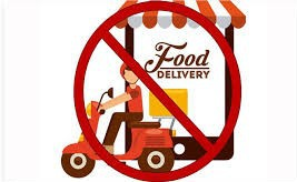 No Food Delivery Services