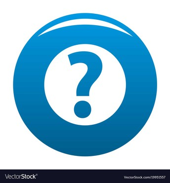 Blue Question Mark in Blue Vector Stock