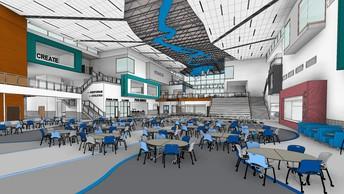 New high school commons rendering