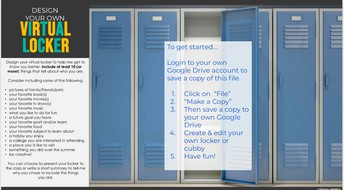 Here is your copy of a virtual locker to decorate.