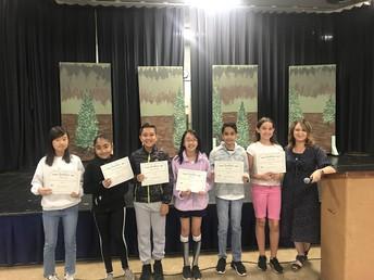 6th Grade Core Awards - Mrs. Johnson