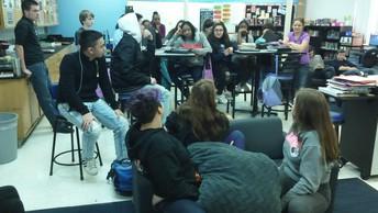 Freshmen Scholars speak to the 8th grade