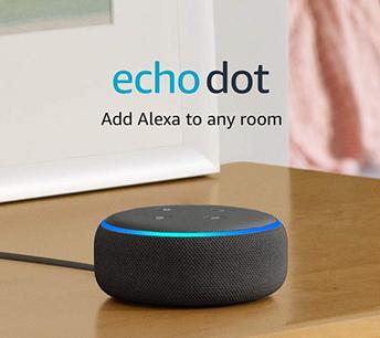 Amazon Echo Dot on table