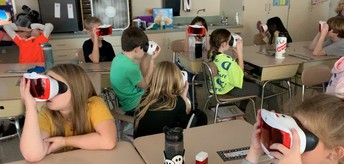 "Fourth-grade students going on a ""virtual"" field trip."