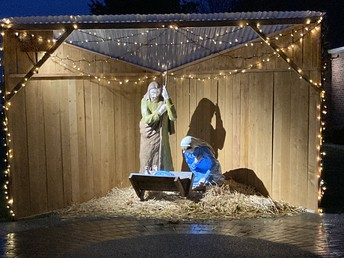 The Manger Outside the Church