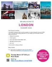 AHS London Trip 2020