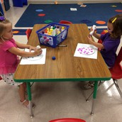 Preschool enjoying dots!