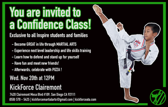 Martial Arts Confidence Class and PIZZA PARTY