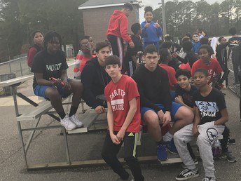 Carver MS boys track tryouts.