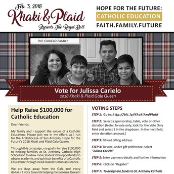 VOTE FOR JULISSA CARRIELO