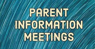 6th Grade Parent Information Meetings
