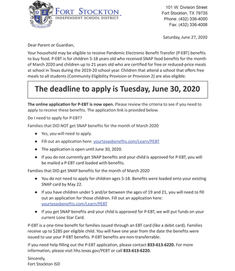 June 27, 2020 Letter English