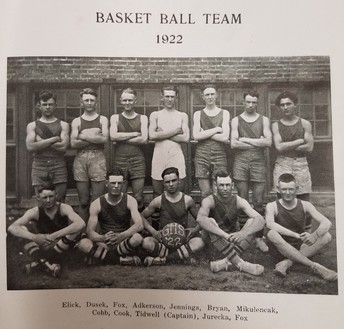 Boy's Basketball in 1922