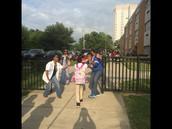 Englehard Elementary's Welcome Committee!