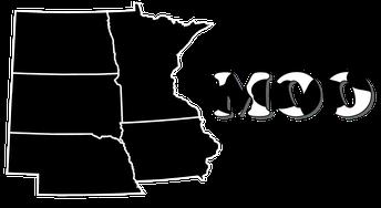 I-29 Moo University black and white logo