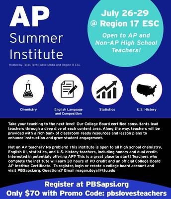 AP Institute Flyer