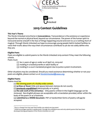 WU19 Contest Guidelines