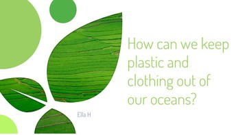 How can we keep plastic and clothing off our oceans?