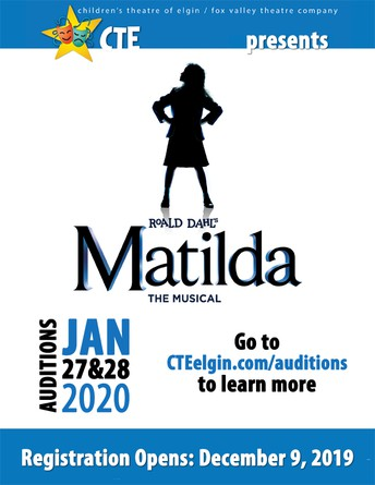 Matilda Audition Registration will be open 12/9