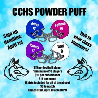 APRIL 19TH - POWDER PUFF, 6pm @ The Coyote Stadium