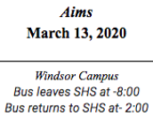 Aims  March 13, 2020