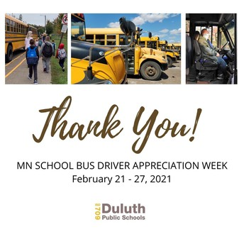 Thank You Duluth School Bus Drivers