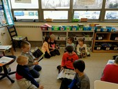 Grades K and 1 read together