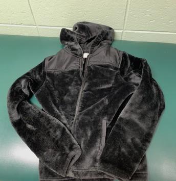 Black girls zip up hoody.  Size12