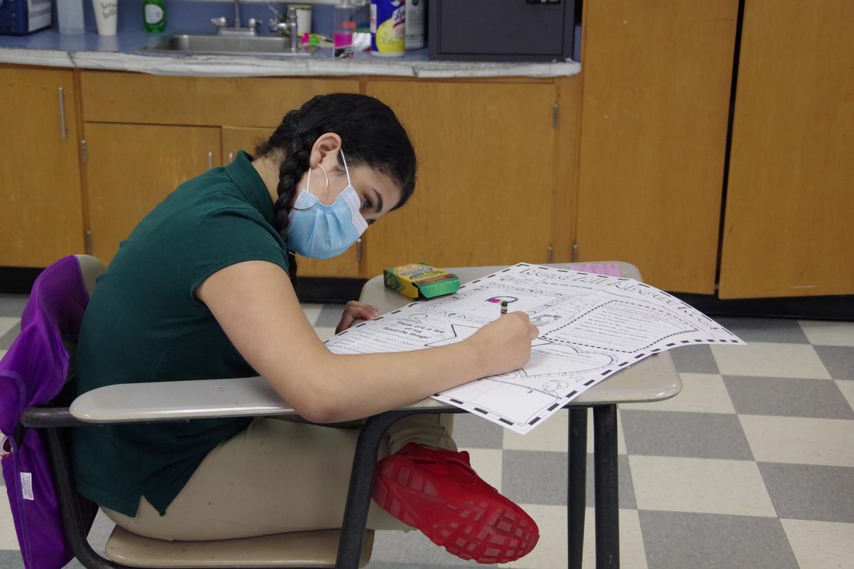 In-person learner at Sullivan School.