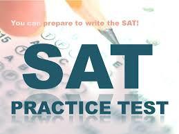 SAT practice test at Columbus East