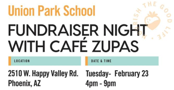 Dinner Date at Cafe Zupas on February 23