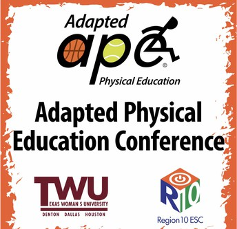 APE Conference Logo with Region 10 and Texas Woman's University