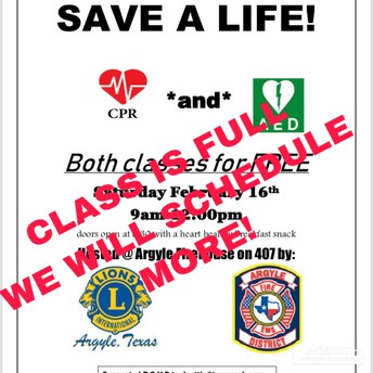 FREE CPR AND AED TRAINING - CLASSES FULL - SCHEDULING MORE