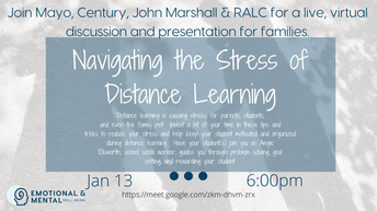 Family Event:  Navigating the Stress of Distance Learning
