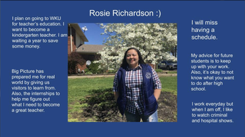 Congrats to Rosie Richardson