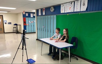 Mr. Kovnesky's class - green screen