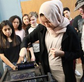 Graphic Design Students at the International Printing Museum