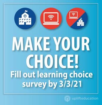 ¡La Encuesta de Opciones de Aprendizaje del Cuarto Trimestre Está Disponible!