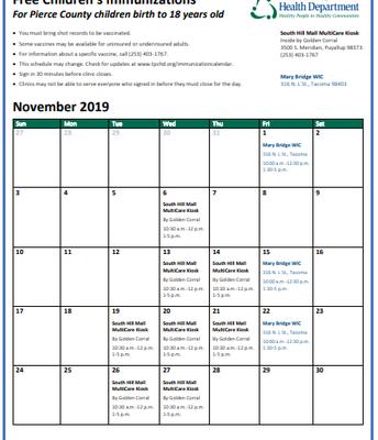 November Mobile Immunization Clinic