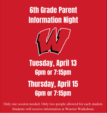 ATTENTION CURRENT 6TH GRADE PARENTS!