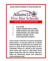 Adams 12 Check Policy
