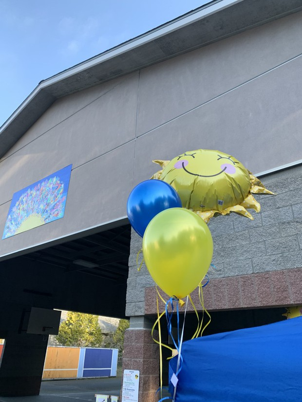 picture of balloons by the covered area