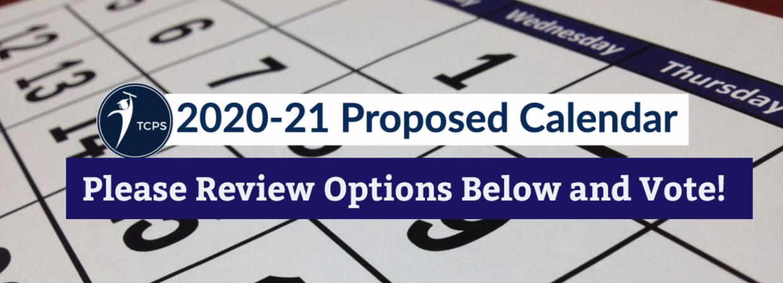 2020-21 Proposed Calendar link