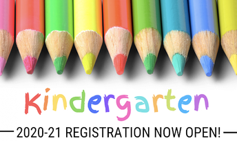 Kindergarten Registration - Open Now!